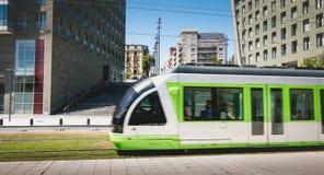 Tranvía en Bilbao, España Foto de archivo