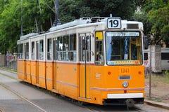 Tranvía en Budapest Imagen de archivo libre de regalías