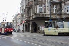Tranvía en Bydgoszcz Foto de archivo libre de regalías