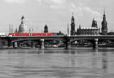 Tranvía en Dresden Imagen de archivo libre de regalías