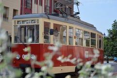 Tranvía en Elblag Polonia Foto de archivo