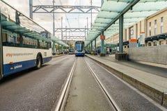 Tranvía en Ginebra, Suiza - HDR fotografía de archivo