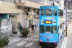 Tranvía en Hong Kong Imagenes de archivo