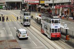 Tranvía en Hong Kong Island fotografía de archivo libre de regalías