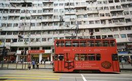 Tranvía en Hong Kong Island fotografía de archivo