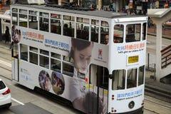 Tranvía en Hong Kong Island imagenes de archivo