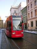 Tranvía en Kraków Fotografía de archivo libre de regalías