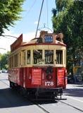 Tranvía en la avenida Christchurch, Nueva Zelandia de Rolleston foto de archivo