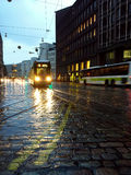 Tranvía en la lluvia Imagen de archivo