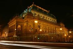 Tranvía en la noche Imagen de archivo