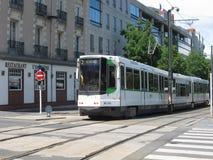 Tranvía en Nantes foto de archivo