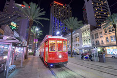 Tranvía en New Orleans foto de archivo libre de regalías