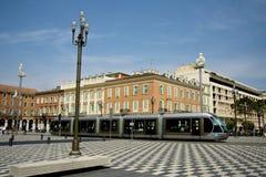 Tranvía en Niza Imagenes de archivo