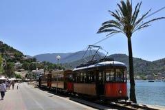 Tranvía en Port de Soller Foto de archivo libre de regalías