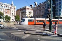 Tranvía en Praga Fotografía de archivo libre de regalías