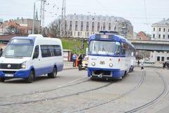 Tranvía en Riga Fotografía de archivo libre de regalías
