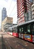 Tranvía en Rotterdam Foto de archivo libre de regalías