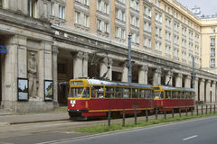 Tranvía en Varsovia Imagen de archivo libre de regalías