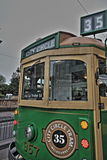 Tranvía HDR del círculo de la ciudad de Melbourne Imagenes de archivo