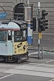 Tranvía HDR del círculo de la ciudad de Melbourne fotografía de archivo libre de regalías
