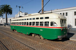 Tranvía histórico en San Francisco foto de archivo
