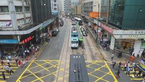 Tranvía Hong Kong almacen de video