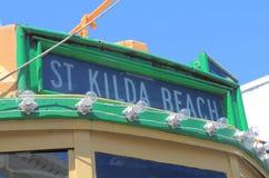 Tranvía Melbourne Australia de la playa del St Kilda Imagen de archivo libre de regalías
