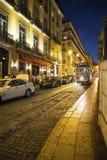 Tranvía ningunos 28, Lisboa, Portugal imagen de archivo libre de regalías