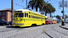 Tranvía retra de la ciudad en San Francisco, los E.E.U.U., viaje, almacen de video