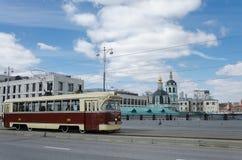 Tranvía retro histórico fotos de archivo libres de regalías