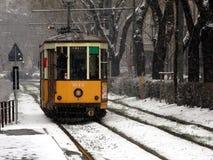 Tranvía típica en Milano Foto de archivo libre de regalías