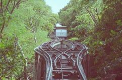 Tranvía vieja al estilo del vintage de la colina Imagenes de archivo