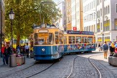 Tranvía vieja en Munich imagenes de archivo