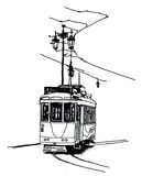 Tranvía viejo en Lisboa Imágenes de archivo libres de regalías