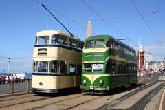 Tranvías de Blackpool Fotografía de archivo libre de regalías