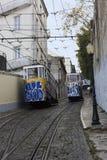 Tranvías de Remodelado en Lisboa en Portugal Imagenes de archivo