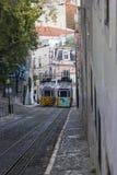 Tranvías de Remodelado en Lisboa en Portugal Fotos de archivo libres de regalías