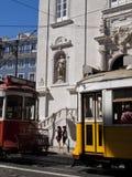 Tranvías en Chiado Fotos de archivo