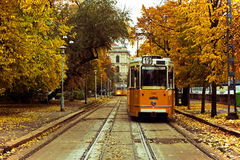 Tranvías en Europa Imagen de archivo libre de regalías