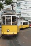 Tranvías en Lisboa. Foto de archivo