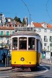 Tranvías en Lisboa Fotos de archivo libres de regalías