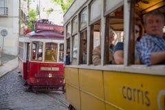 Tranvías históricas en Lisboa Fotografía de archivo libre de regalías