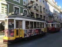 Tranvías Lisboa céntrica Fotografía de archivo libre de regalías