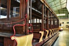Tranvías viejas del vintage en Lisboa Fotografía de archivo