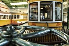 Tranvías viejas del vintage en Lisboa Imagen de archivo libre de regalías