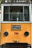 Tranvías viejas del vintage en Lisboa Foto de archivo libre de regalías