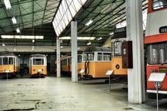 Tranvías viejas del vintage en Lisboa Fotos de archivo libres de regalías
