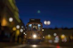 Tranvías viejas en Lisboa, Portugal Foto de archivo libre de regalías