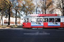 Tranvías VIENA, AUSTRIA imágenes de archivo libres de regalías
