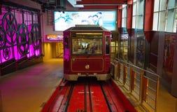 Tranvía máxima Victoria Peak Foto de archivo libre de regalías